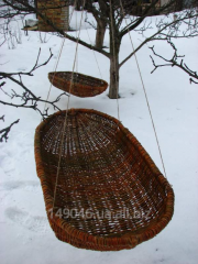 Cradle for the child weaved out of a rod,