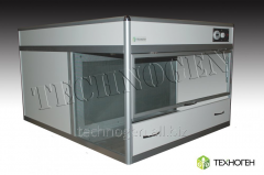 The laminar-flow cabinet (case) with a horizontal