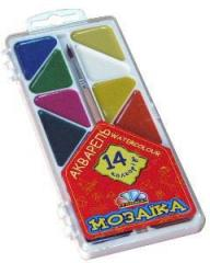 Water color of 14 Mosaic Scale colors