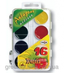 Water color of 16 Scale colors transparent cover