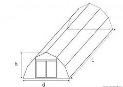 We bring to your attention collapsible hangars of