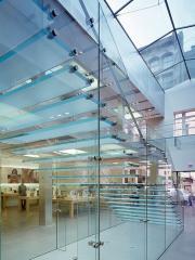 Перегородки стеклянные, стеклянные конструкции,