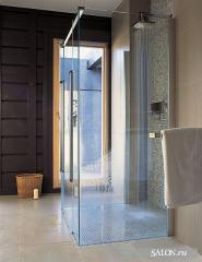 Doors glass for shower cabins, a door from glass