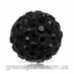 Bead Shambhala with crystals of 10 mm black (the