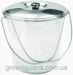 Bucket with a cover of 10 l from a stainless steel