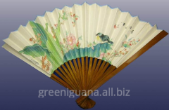 Fan bamboo and paper (29 cm) (9) (5 pieces /