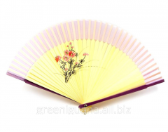 Fan a bamboo with silk (21 cm)