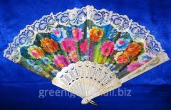 Fan lacy white (23 cm) (12 pieces / unitary