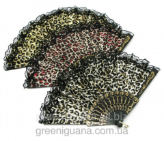 Fan lacy Leopard of 23 cm