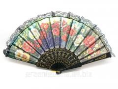 Fan lacy black (24 cm) (10 pieces / unitary