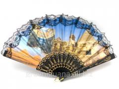 Fan lacy black Egypt (24 cm) (12 pieces / unitary