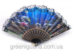 Fan lacy black to Mora (24 cm)