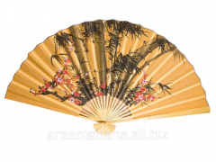 Fan a wall Bamboo with an Oriental cherry on an