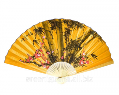 Fan wall the Oriental cherry with a bamboo on a