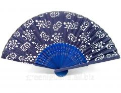 Fan silk and bamboo (21,5 cm)