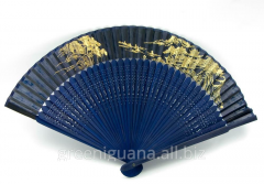 Fan silk and a bamboo long with drawing (21 cm)