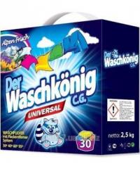 Бесфосфатный стиральный порошок Waschkonig Universal 2,5 кг- 30 стирок