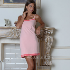 Nightgown on shoulder-straps, peach, the size S
