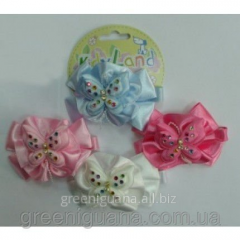 Clip bonbon bow (fabric, butterfly: it is white,