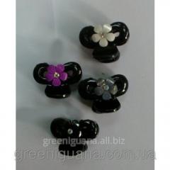 Clip krabik bonbon flower (white, black, pink,