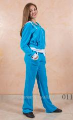 Women's sports suit velors 011
