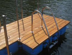 Hand-rail for pools from stainless steel