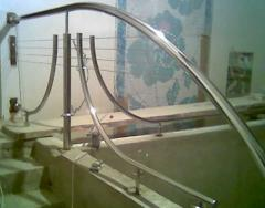 Hand-rail for bathrooms from stainless steel