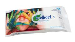 Wet towel wipes of the Welwet trademark for the