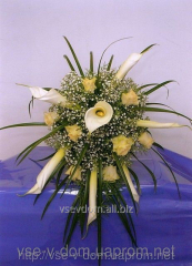 "Bridal bouquet ""White Cupid's arrows"