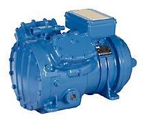 Semi-hermetic piston compressor compressor