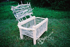 Rabbit cage made of natural wood