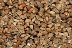 Firewood is dry