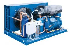 The refrigerating unit with air cooling of
