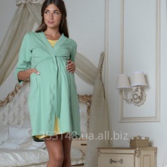 Dressing gown for pregnant women, olive, the size