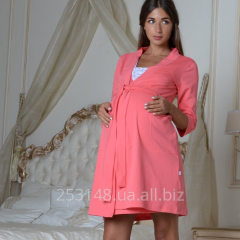 Dressing gown for pregnant women, coral, the size