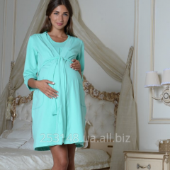 Dressing gown for pregnant women, mint, the size L