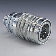 Ball valves with blue steel lever, lighweight type, female/male thread - K-BKR BLAU STAHLHEBEL IG AG