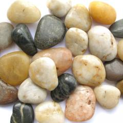 Pebble a mix large polished with the 40-60th