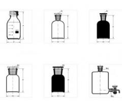 Large bottles for reactants