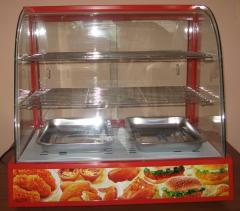 Heated display cabinets