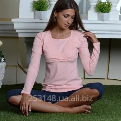 Блуза для кормящих мам, персиковая, размер S
