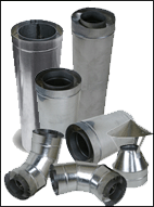 Flue one-planimetric of stainless steel