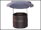 Umbrella for a flue