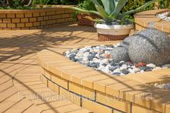 Stone blocks brick Amber