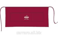 Corporate Carraro apron (darkly red and black)