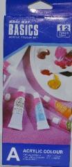 Paints of 12 flowers of 12 ml acrylic Basics