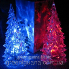 Pass the lamp a fir-tree a crystal (changes colors