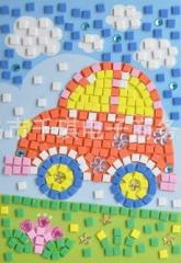 Soft mosaic of a sticker without scissors and glue