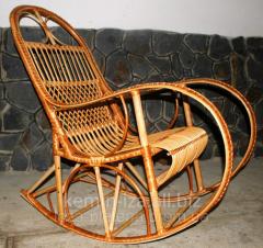 Furniture wattled of a rod, furniture on the dacha