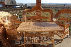 Furniture sets from a rattan from the producer,